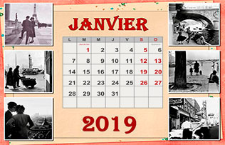 Calendrier photo mensuel exemple