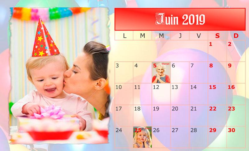 Comment cr er un calendrier des anniversaires - Creer un calendrier photo ...