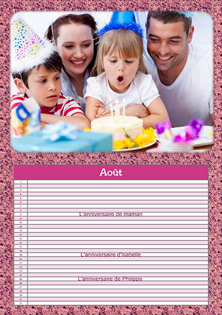 Calendrier Perpetuel Personnalise 365 Jours.Calendrier Perpetuel Personnalise Avec Les Anniversaires